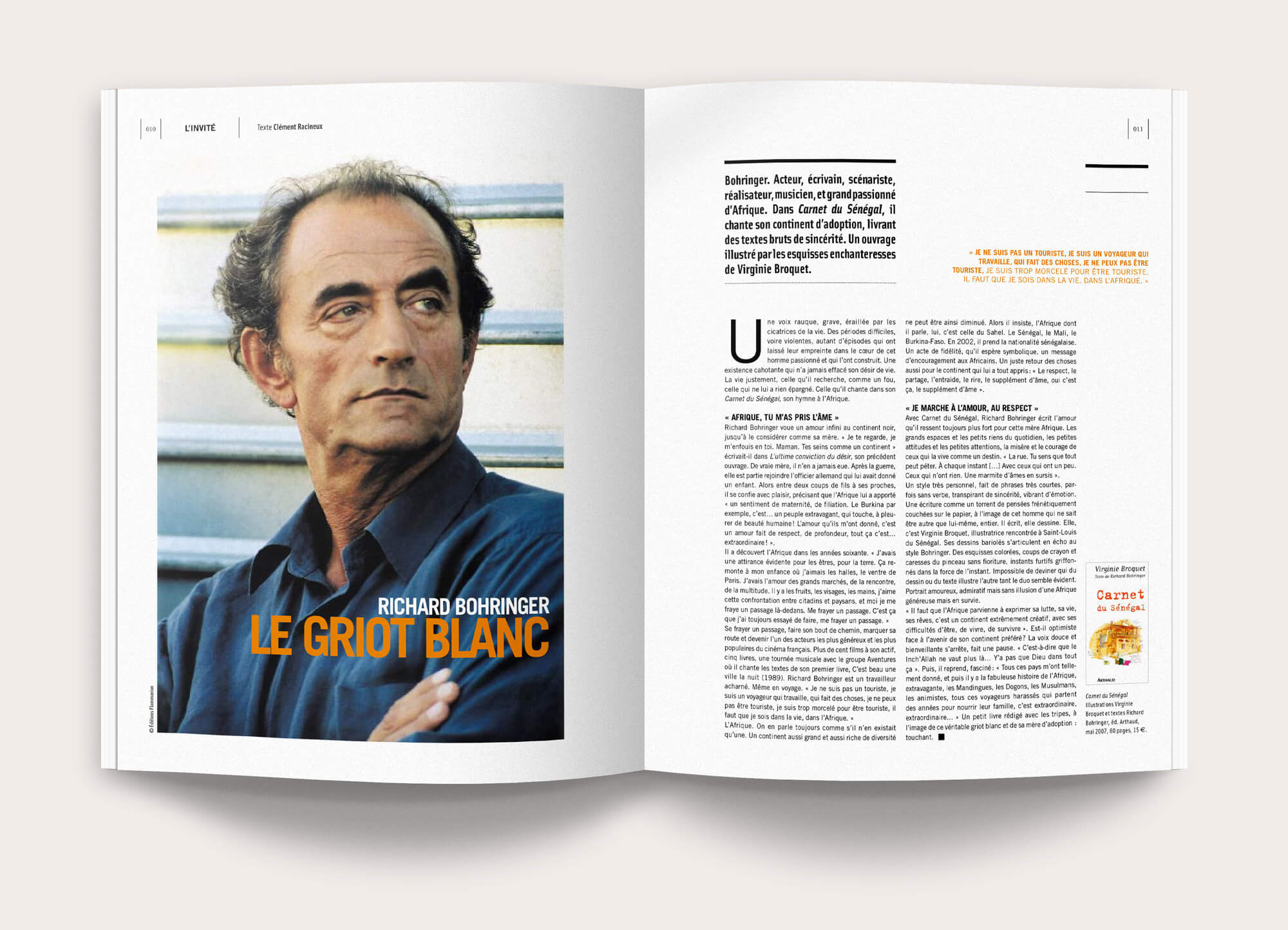 Interview, rédaction et mise-en-page pour un article du magazine Roadbook © Kalao Studio